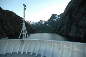 Norge Hurtigruten reseskildring Trollfjorden