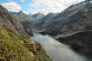 Norge Hurtigruten reseskildring Geirangerfjorden