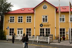 Island reseskildring, restaurang Reykjavik