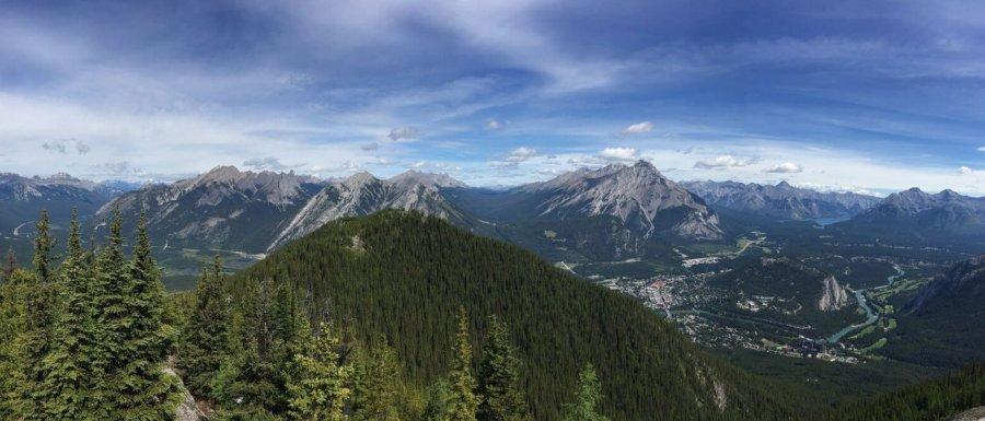 Utsikt från Sulphur mountain Banff