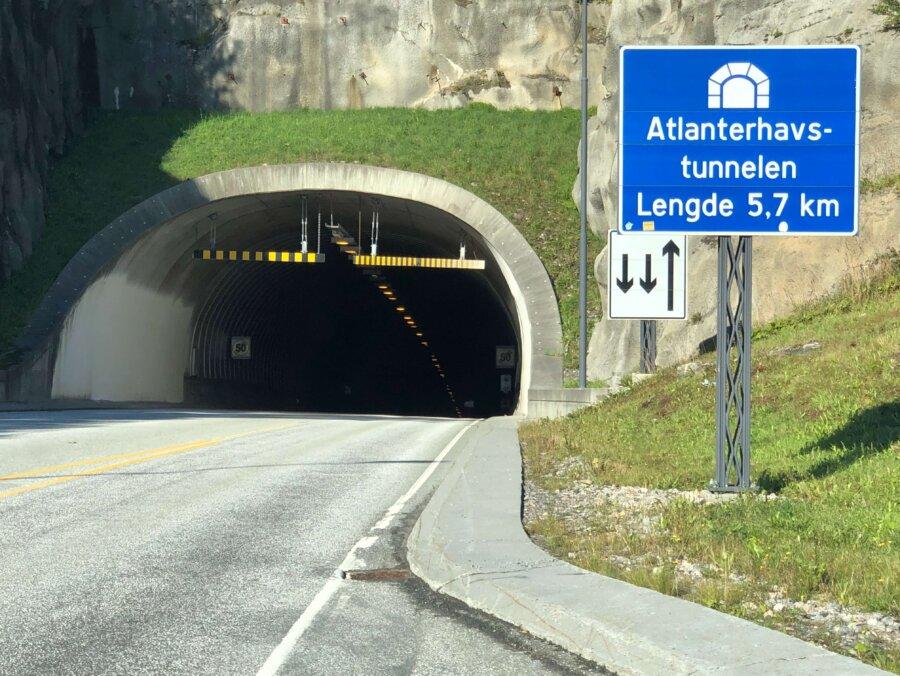 Atlanthavsvägs tunneln, 5,7 km