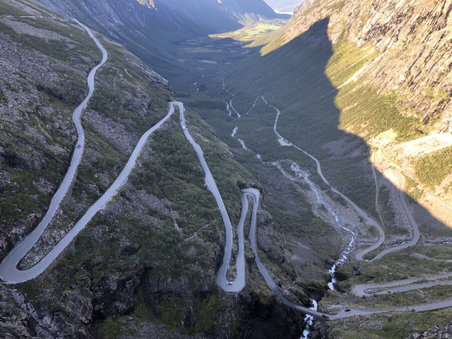 The scenic road 63 -Trollstigen, Norway