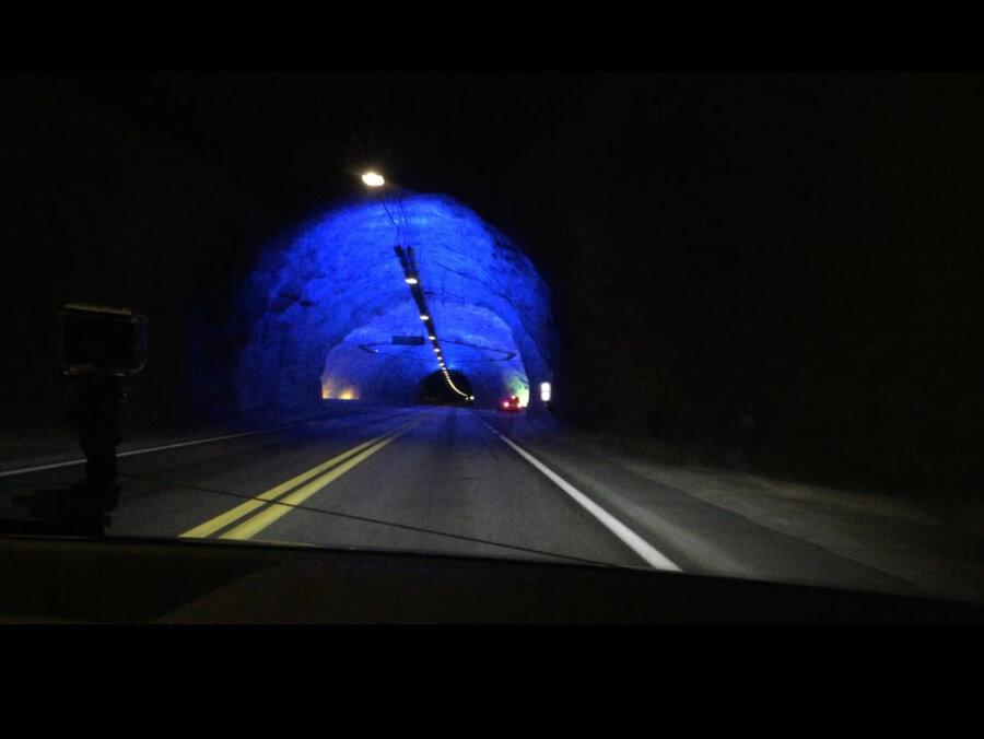 Laerdals tunneln - världens längsta - 24,5km